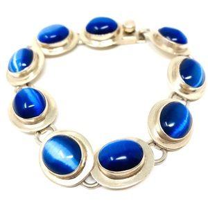 TAXCO sterling/cat's eye bracelet, 31.2g